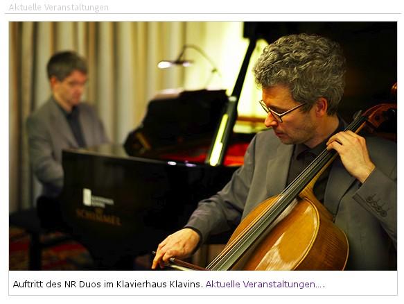 Klavierhaus Klavins in Bonn-Beuel, screenshot Veranstaltungshinweise mit Photo © René Adrian 2012