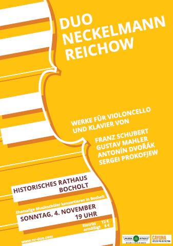 Duo Neckelmann-Reichow in Bocholt, 4.11.2012 - Poster © http://www.cayuna.de